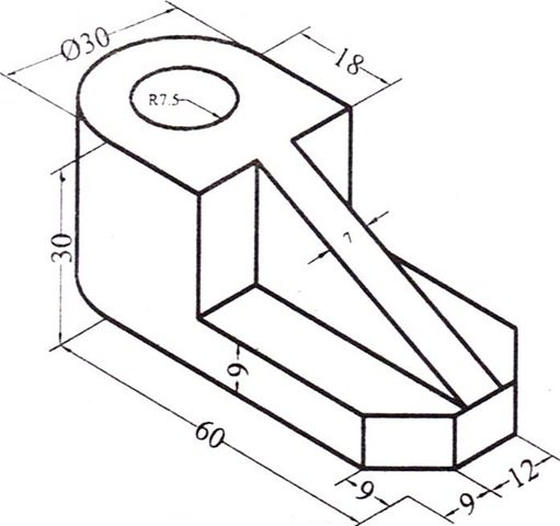 Engineering isometric drawing vbengineering Simple 2d cad