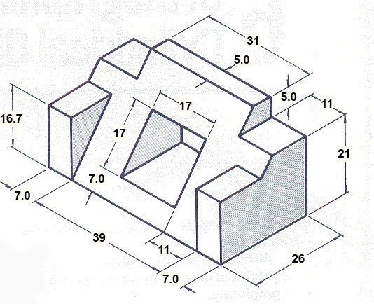 engineering isometric drawing